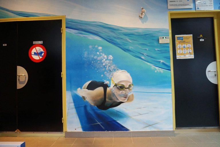 Hall entrée piscine municipale